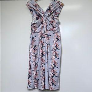 ASOS • Floral Jersey Maternity Criss-Cross Dress